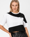 Converse Cut-And-Sew Oversized Cropped T-shirt