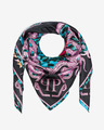 Philipp Plein Skull And Roses Scarf