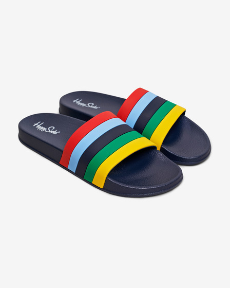 Happy Socks Pool Slider Stripe Slippers