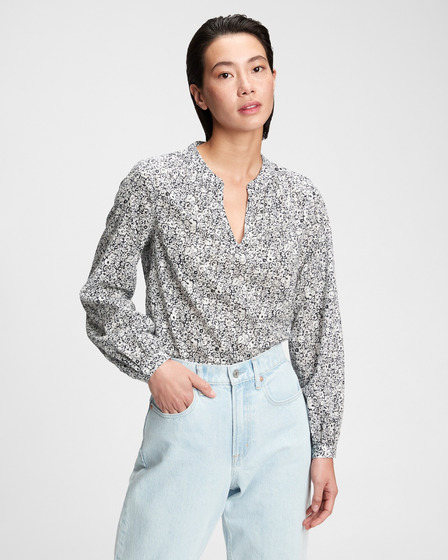 GAP Shirred Popover Blouse